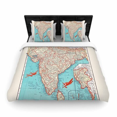 Catherine Holcombe Travel to India Woven Duvet Cover Size: Twin