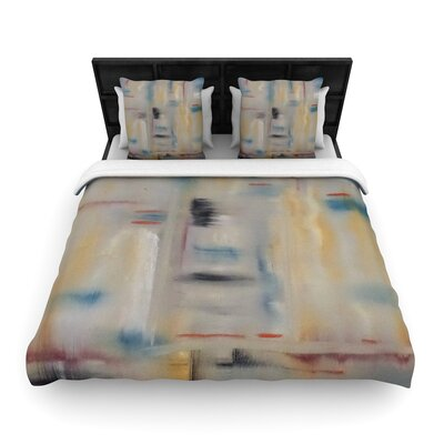 Cathy Rodgers Library Painting Abstract Woven Duvet Cover Size: Twin