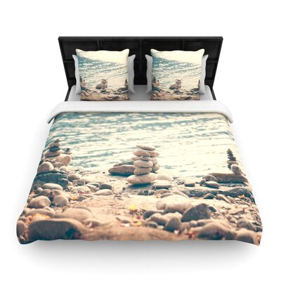 Catherine McDonald River Cairns Woven Duvet Cover Size: Twin