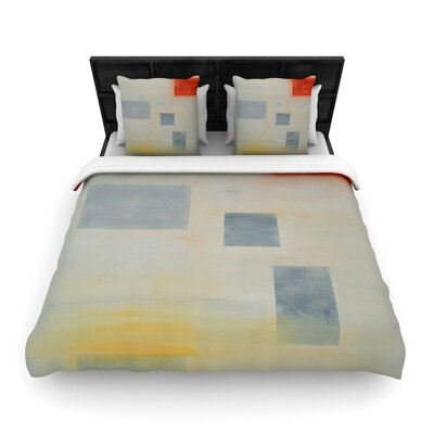 Cathy Rodgers Map to Childhood Woven Duvet Cover Size: Twin