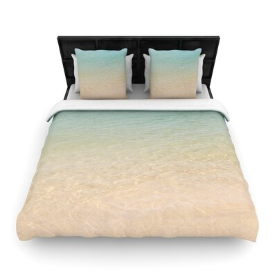 Catherine McDonald Ombre Sea Photography Woven Duvet Cover Size: King