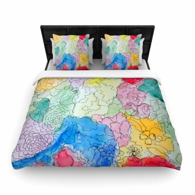 Cathy Rodgers Floral Pathway Woven Duvet Cover Size: King