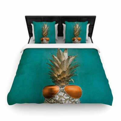Chelsea Victoria 24 Karat Pineapple Digital Woven Duvet Cover
