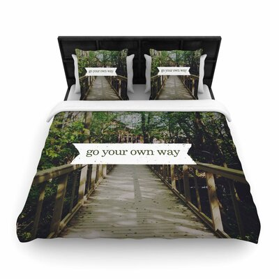 Chelsea Victoria Go Your Own Way Nature Woven Duvet Cover