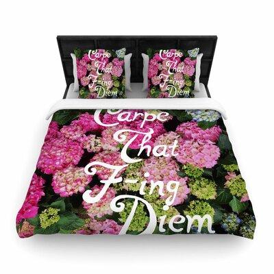 Chelsea Victoria Carpe That F Ing Diem Nature Woven Duvet Cover