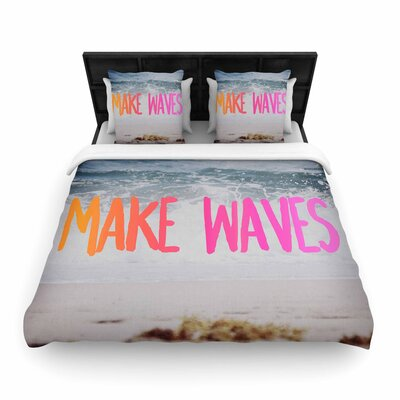 Chelsea Victoria Make Waves Photography Woven Duvet Cover