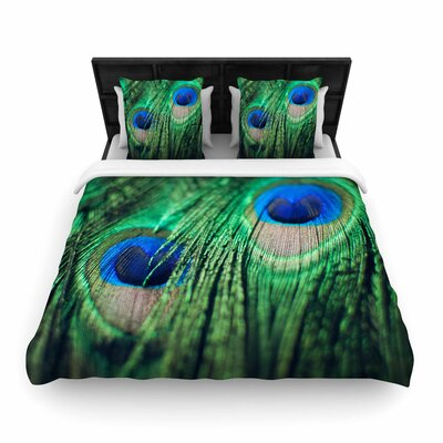 Chelsea Victoria Peacock Feathers Woven Duvet Cover