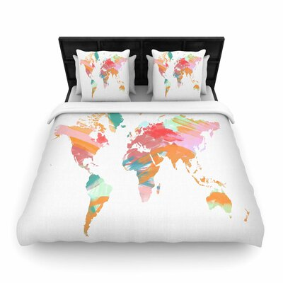 Chelsea Victoria Wild World Travel Painting Woven Duvet Cover