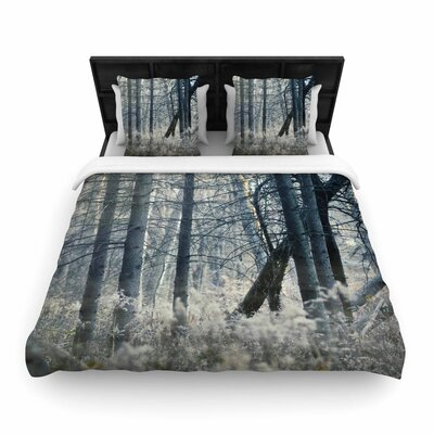 Chelsea Victoria Out of the Woods Nature Photography Woven Duvet Cover