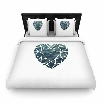 Chelsea Victoria Ocean Love Photography Woven Duvet Cover