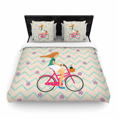 Cristina Bianco Design Bicycle Ride Woven Duvet Cover