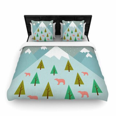 Cristina bianco Design Bears Illustration Nature Woven Duvet Cover