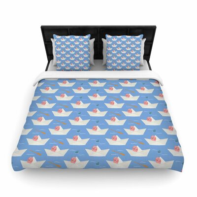 Cristina bianco Design Paper Cat Pattern Woven Duvet Cover
