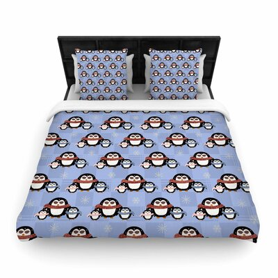 Cristina Bianco Design Cute Penguins Pattern Woven Duvet Cover