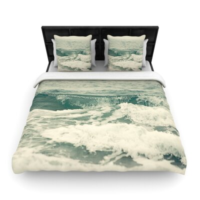 Cristina Mitchell Crashing Waves Ocean Woven Duvet Cover