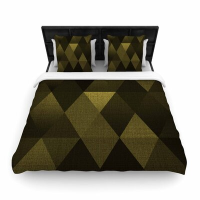Cvetelina Todorova 'Triangles' Woven Duvet Cover