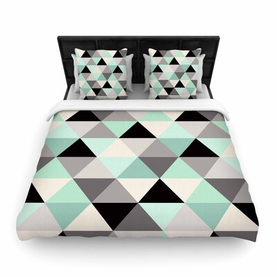 Crystal Walen Triangle Geo Teeal Woven Duvet Cover