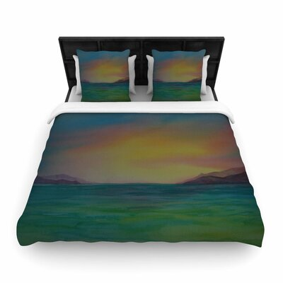 Cyndi Steen Christys Island Watercolor Woven Duvet Cover