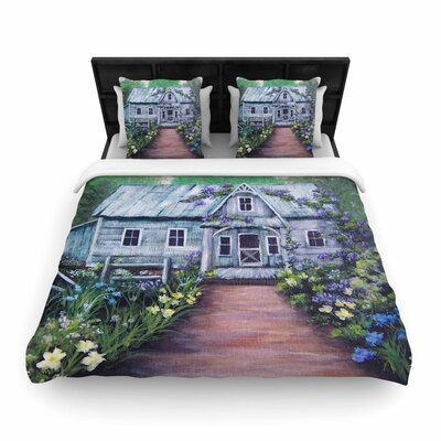 Cyndi Steen Ivy Cottage Again Woven Duvet Cover