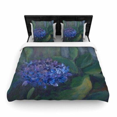 Cyndi Steen Hydrangea Floral Woven Duvet Cover