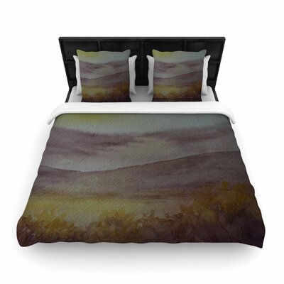 Cyndi Steen Mauve Sunset Nature Woven Duvet Cover