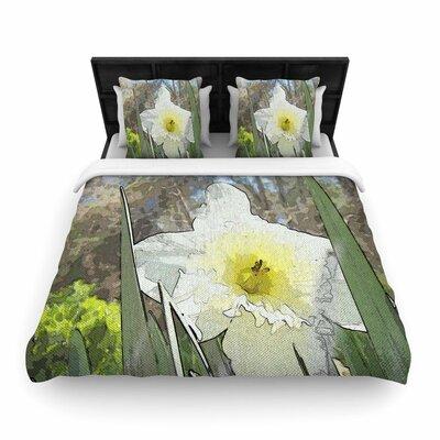 Cyndi Steen Daffodil Digital Woven Duvet Cover