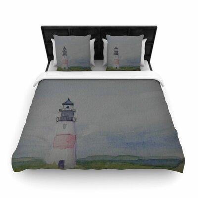 Cyndi Steen Sankaty Lighthouse Woven Duvet Cover