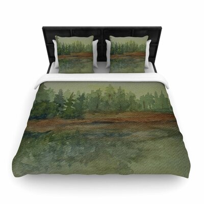 Cyndi Steen Reflections Watercolor Woven Duvet Cover