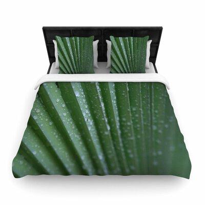 Cyndi Steen Palm Frond Nature Woven Duvet Cover