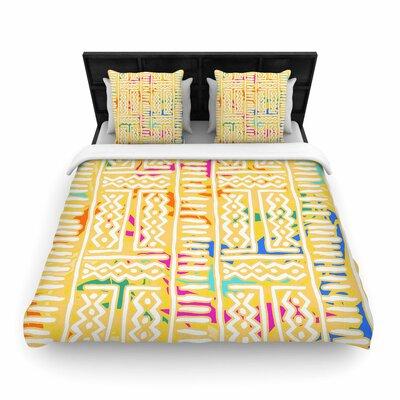 Dan Sekanwagi Lines and Zigzags - Colorful Tribal Woven Duvet Cover
