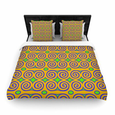 Dan Sekanwagi Locked Rams Horns Clear Day Digital Woven Duvet Cover