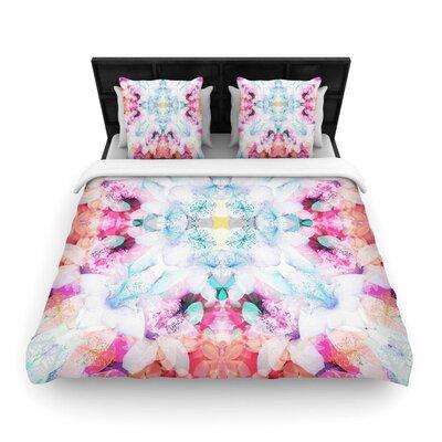 Danii Pollehn Hibiscus Kaleidoscope Woven Duvet Cover