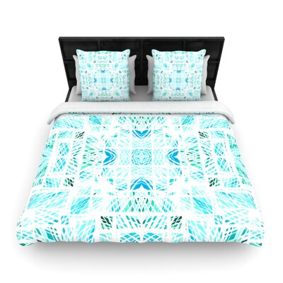 Danii Pollehn Scandanavian Square Woven Duvet Cover Color: Blue, Size: Twin