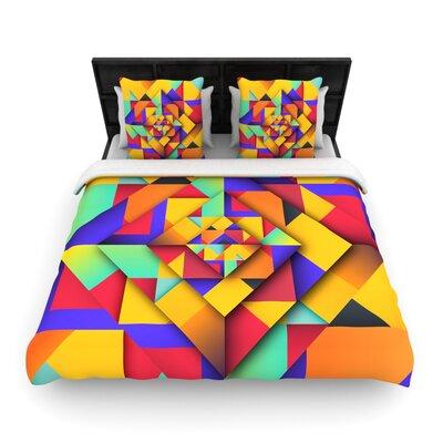 Danny Ivan Shapes II Geometric Woven Duvet Cover