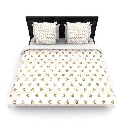 Pellerina Design Linen Polka Stripes Dots Woven Duvet Cover Size: King