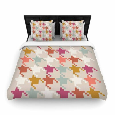 Pellerina Design Houndstooth Panel Digital Woven Duvet Cover Size: Full/Queen