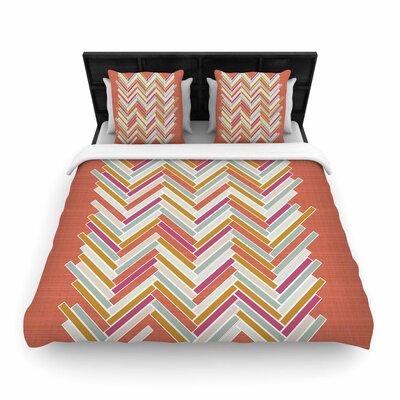 Pellerina Design Herringbone Weave Bold Vector Woven Duvet Cover Size: Twin