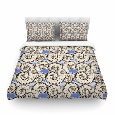 Mydeas Nautical Breeze - Spiral Seashells Vector Featherweight Duvet Cover Size: Twin