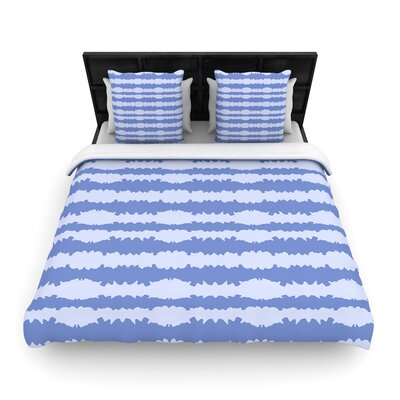 Mydeas Nautical Breeze - Ocean Ripple Woven Duvet Cover Size: Twin