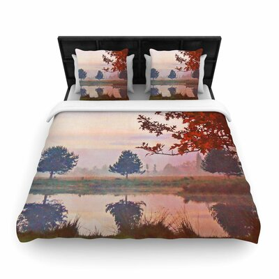 Pellerina Design Magic Morning Nature Woven Duvet Cover Size: Full/Queen