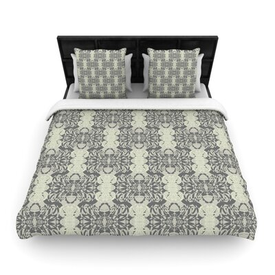 Mydeas Illusion Damask Woven Duvet Cover Color: Silver/Gray, Size: King