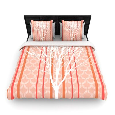 Pellerina Design Spring Tree Woven Duvet Cover Size: Twin