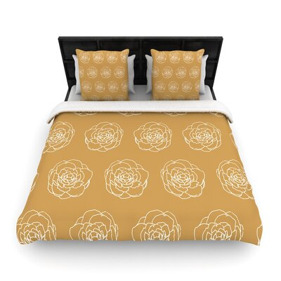 Pellerina Design Peonies Woven Duvet Cover Size: Full/Queen
