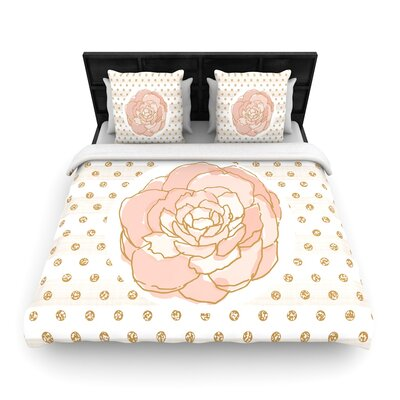 Pellerina Design Peony Floral Woven Duvet Cover Size: King