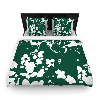 Love Midge Helena Floral Abstract Woven Duvet Cover Size: King