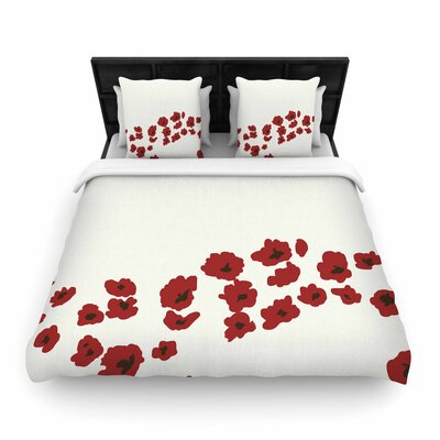 Mayacoa Studio Poppy Field Woven Duvet Cover Size: Twin
