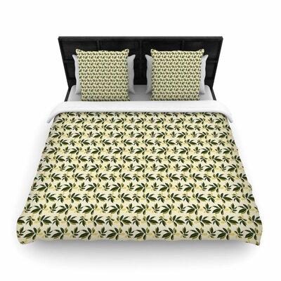 Mayacoa Studio Pine Cone Woven Duvet Cover Size: Twin