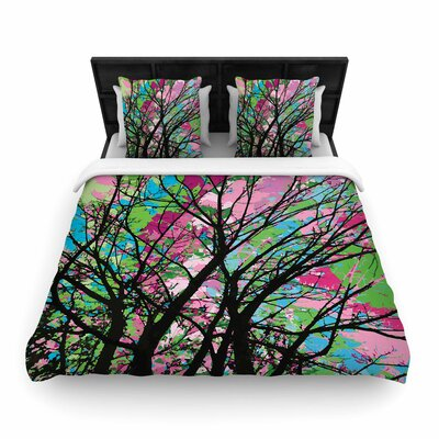 Rmpire Ruhl Tree of Spring 2 Woven Duvet Cover Size: Full/Queen