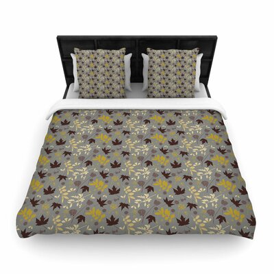 Mayacoa Studio Fall Leaves Floral Woven Duvet Cover