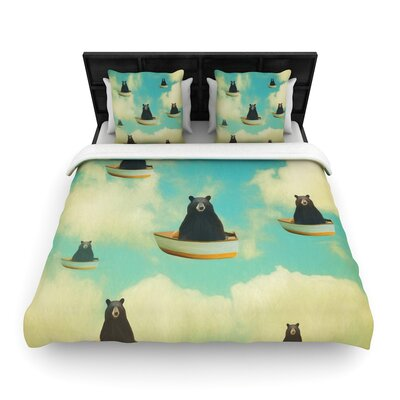 Natt Bears Floating Animals Woven Duvet Cover Size: Twin